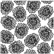 FLORAL BLOOMS Cover A Card Background Unmounted Rubber Stamp IO Stamp CC209 New