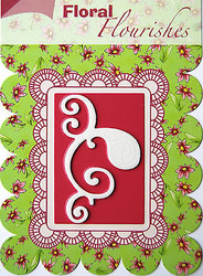 FLOURISH Die Craft Steel Cutting Die Joy! Crafts DIE # 6003/0004 New