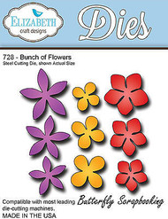 Flower Flowers Set American Made Steel Dies Elizabeth Craft Designs Die 728 New