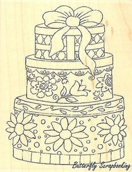 Flower Gift Boxes, Wood Mounted Rubber Stamp IMPRESSION OBSESSION - NEW, H16008