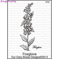Foxglove, Cling Style Unmounted Stamp DAILY BREAD DESIGNS - NEW, G478