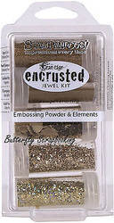 Frantage Encrusted Jewel Kit Collection Gold Embossing Elements Stampendous NEW