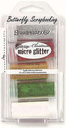 Frantage MICRO GLITTER Christmas Collection Kit 5 Glitters Stampendous MGK02 NEW
