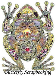 FROG Animal Spirit Cling Unmounted Rubber Stamp EARTH ART Sue Coccia New