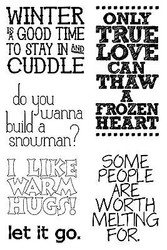 Frozen Collection Quote Clear Unmounted Stamp Set Impression Obsession CL551 NEW