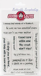 Funny Sayings JIMBO LOJIK Clear Unmounted Rubber Stamps Set JLSC Set C New