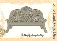 Garden Bench American made Steel Dies by La La Land Crafts DIE 8032 New
