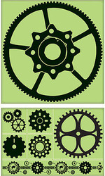 Gear Kit Unmounted Cling Rubber Stamp Set Inkadinkado Create a Background New