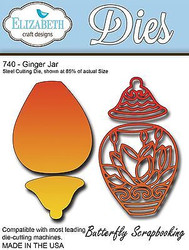 Ginger Jar, Steel Cutting Die ELIZABETH CRAFT DESIGNS - NEW, #740