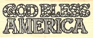 God Bless America Text, Wood Mounted Rubber Stamp NORTHWOODS - NEW, D1186