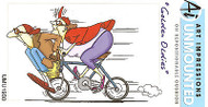 GOLDEN OLDIES Biker Chicks Unmounted Rubber Stamp On Cushion AI Art Impress NEW