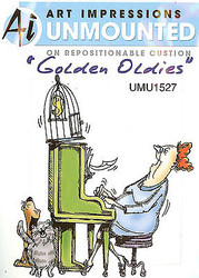 GOLDEN OLDIES Unmounted Rubber Stamp Set Betty Happy Birthday AI Art Imp NEW