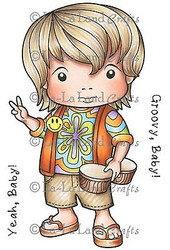 Groovy Luka Stamp Set Cling Unmounted Rubber Stamp La La Land Crafts 5253 New
