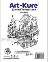 Half Dome Unmounted Rubber Stamp Landmark Collection Art-Kure AK-LM13-EZ New