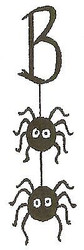 HALLOWEEN BOO with Spiders Wood Mounted Rubber Stamp NORTHWOODS BB9831 New