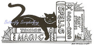 Halloween Cat Spells Books Wood Mounted Rubber Stamp Northwoods Rubber Stamp Ne