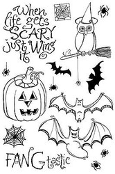 Halloween Clear Unmounted Rubber Stamps Set Impression Obsession Zenspirations