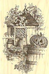 Halloween Colonial Fall Wood Mounted Rubber Stamp Impression Obsession NEW