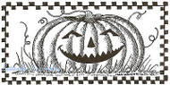 Halloween Pumpkin Checker Wood Mounted Rubber Stamp Northwoods Rubber Stamp New