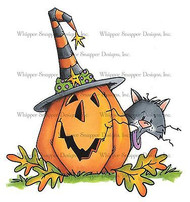 HALLOWEEN PUMPKIN Cling Unmounted Rubber Stamp Whipper Snapper Designs MY646 NEW