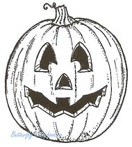 Halloween Pumpkin Jack O Wood Mounted Rubber Stamp Northwoods Rubber Stamp New