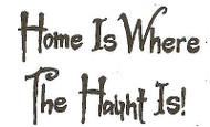 Halloween Saying Home Is Haunt Is Wood Mounted Rubber Stamp NORTHWOODS C9599 New
