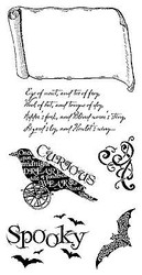 Halloween Steampunk Spells Unmounted Cling Rubber Stamp Set Graphic 45 IC0256New