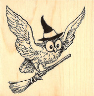 HALLOWEEN Wicked Owl Wood Mounted Rubber Stamp STAMPENDOUS Stamp Q174 New