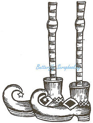 Halloween Witch Legs Wood Mounted Rubber Stamp Northwoods Rubber Stamp New
