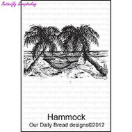 Hammock, Cling Style Unmounted Stamp DAILY BREAD DESIGNS - NEW, E351