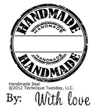HANDMADE Small Stamp Set Clear Unmounted Rubber Stamps TECHNIQUE TUESDAY New