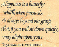 Happiness Is A Butterfly Wood Mounted Rubber Stamp Impression Obsession NEW