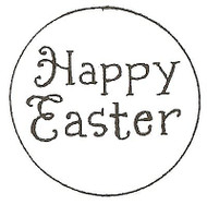 HAPPY Easter Text, Wood Mounted Rubber Stamp NORTHWOODS - NEW, A7957