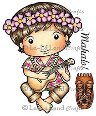 Hawaii Luka Stamp Set Cling Unmounted Rubber Stamp La La Land Crafts 5117 New