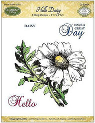 HELLO DAISY Stamp Set Cling Unmounted Rubber Stamps by JustRight CL-02004 NEW