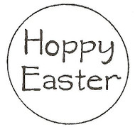 HOPPY Easter Text, Wood Mounted Rubber Stamp NORTHWOODS - NEW, A7952