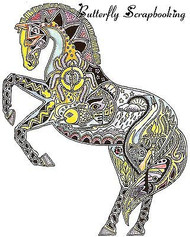 HORSE Animal Spirit Cling Unmounted Rubber Stamp EARTH ART Sue Coccia New