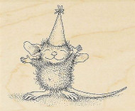 HOUSE MOUSE Birthday So Big Wood Mounted Rubber Stamp STAMPENDOUS HMV17 New