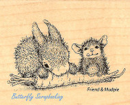 HOUSE MOUSE Bunny Carrot Friend Wood Mounted Rubber Stamp STAMPENDOUS HMV05 New