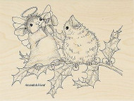 HOUSE MOUSE Christmas Joyful Wood Mounted Rubber Stamp STAMPENDOUS HMR38 New