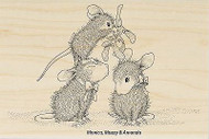 HOUSE MOUSE Christmas Mistletoe Wood Mounted Rubber Stamp STAMPENDOUS HMP35 New