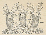 HOUSE MOUSE Christmas PEACE Wood Mounted Rubber Stamp STAMPENDOUS HMR35 New