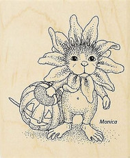 HOUSE MOUSE Halloween Daisy Face Wood Mounted Rubber Stamp STAMPENDOUS HMV21 New