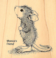 HOUSE MOUSE Hopeful Mouse Wood Mounted Rubber Stamp STAMPENDOUS HMF01 New