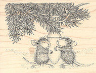 HOUSE MOUSE Paws To Warm Christmas Wood Mounted Rubber Stamp STAMPENDOUS New