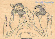HOUSE MOUSE Valentine Be Mine Wood Mounted Rubber Stamp STAMPENDOUS HMP21 New