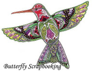HUMMINGBIRD Animal Spirit Cling Unmounted Rubber Stamp EARTH ART Sue Coccia New