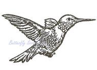 Hummingbird Bird Wood Mounted Rubber Stamp NORTHWOODS - E681 New
