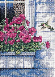 HUMMINGBIRD Flower Gold Collection Petites Dimensions Cross Stitch Kit 65037 NEW