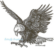 Hunting Eagle Bird Wood Mounted Rubber Stamp Northwoods Rubber Stamp New
